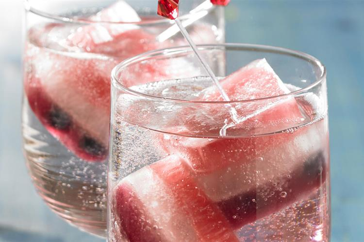 Patriotic Coolers with Independence Ice Cubes